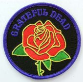 Grateful Dead - 'Rose' Embroidered Patch